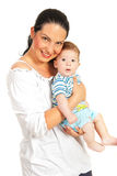 Beauty mother and her baby boy Royalty Free Stock Photography