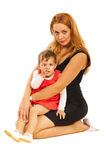 Beauty mother posing with girl Stock Photography