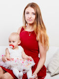 Beauty mother with toddler Royalty Free Stock Photo