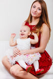 Beauty mother with toddler Stock Photography