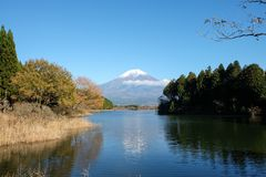 The beauty of Mount Fuji royalty free stock image