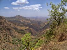Beauty of a mountainous landscape in northern Ethiopia. The beauty of a mountainous landscape in northern Ethiopia stock photo