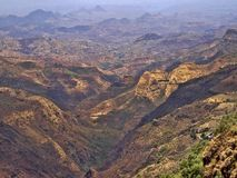 Beauty of a mountainous landscape in northern Ethiopia. The beauty of a mountainous landscape in northern Ethiopia royalty free stock photography