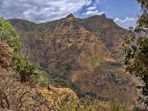 Beauty of a mountainous landscape in northern Ethiopia. The beauty of a mountainous landscape in northern Ethiopia royalty free stock images