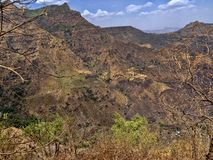 Beauty of a mountainous landscape in northern Ethiopia. The beauty of a mountainous landscape in northern Ethiopia stock images