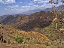 Beauty of a mountainous landscape in northern Ethiopia. The beauty of a mountainous landscape in northern Ethiopia royalty free stock photo