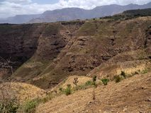 Beauty of a mountainous landscape in northern Ethiopia. The beauty of a mountainous landscape in northern Ethiopia royalty free stock image