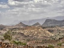 Beauty of a mountainous landscape in northern Ethiopia. The beauty of a mountainous landscape in northern Ethiopia stock photography