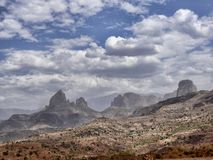 Beauty of a mountainous landscape in northern Ethiopia. The beauty of a mountainous landscape in northern Ethiopia stock image