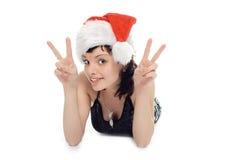 Beauty Mrs Santa Claus Royalty Free Stock Photography