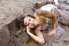 Beauty in mud Royalty Free Stock Photography