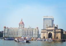 Beauty of mumbai. Gateway and taj in one pic Royalty Free Stock Images
