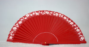 A red fan to seduce. The beauty and the mystery of Asia vector illustration