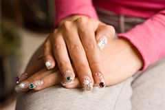 Beauty nail. Of a young women Royalty Free Stock Photo