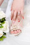Beauty nail. Of a bride Stock Photo