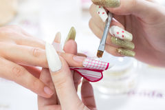Beauty nails construction Royalty Free Stock Photos
