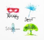 Beauty natural spa symbols mask Royalty Free Stock Photography