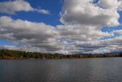 The Beauty of Nature. Look at the clouds, a breathtaking view with the cool breeze. The picture was taken at Adirondacks in NY in the Fall of 2009 Royalty Free Stock Photo