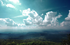 The beauty of nature. Asia land of sky and forest Royalty Free Stock Images