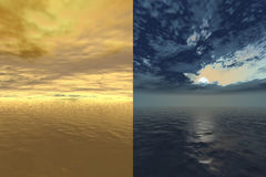 Beauty of nature. 3d rendered in Photoshop Stock Photos