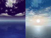 Beauty of nature. 3d rendered in Photoshop Royalty Free Stock Photo