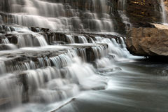 Beauty Of Nature. Cascade Waterfall with blurred motion Stock Image