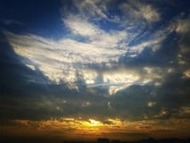 Beauty of nature. The beautiful morning sky stock images