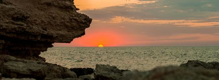 Beauty nature evening or morning sea landscape Royalty Free Stock Photography