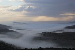 The Foggy Valley. Beauty of nature Royalty Free Stock Images
