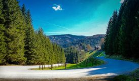 Beautiful ride in the mountains stock photos