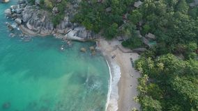 Beauty nature landscape with beach, sea and jungle on Thailand. Drone video. 4k. stock footage