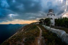 Beauty nature landscape Crimea with beacon Royalty Free Stock Photo