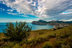 Beauty nature landscape Crimea, Koktebel town Royalty Free Stock Images
