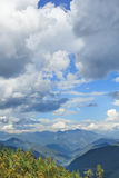 Beauty of nature, mountain tops with dramatic clouds, Yunnan, China Royalty Free Stock Image
