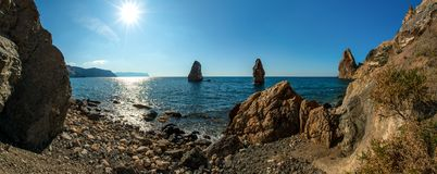 Beauty nature sea landscape Crimea. Fiolent, horizontal photo royalty free stock photos