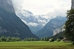 Beauty of nature in siwtizerland. Beauty of nature in lauterbrunnen valley, Switzerland Stock Images