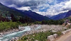 Beauty of nature. Traveling in Manali and enjoying beautiful view Royalty Free Stock Photos
