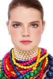 Beauty in necklaces Royalty Free Stock Images
