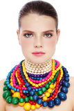 Beauty in necklaces Royalty Free Stock Photos