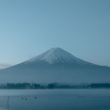 Beauty night landscape view from kawaguchi lake with sky and fuj Stock Photography