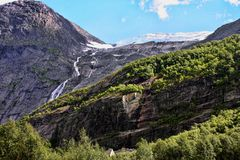 Beauty of Norwegian waterfalls Royalty Free Stock Photo