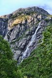 Beauty of Norwegian waterfalls Stock Photography