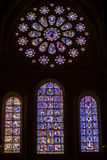 Beauty Old Stained-glass Windows In Cathedral Of O Stock Photos