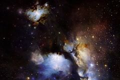 Beauty of outer space. Science fiction wallpaper. Elements of this image furnished by NASA stock photography