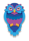 Beauty owl in paper style. Isolated illustration. Beauty owl in paper style. Isolated illustration can be used in printing: card, t-shirt, phone case, mug, bag Stock Photo