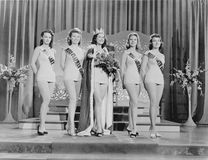 BEAUTY PAGEANT. (All persons depicted are no longer living and no estate exists. Supplier grants that there will be no model release issues Royalty Free Stock Photography