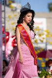 Beauty Pageant. Miss Thai New Year 2015 participants in a beauty pageant Stock Images