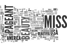 Beauty Pageant Word Cloud Stock Photography