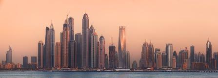 The beauty panorama of Dubai marina. UAE Royalty Free Stock Image