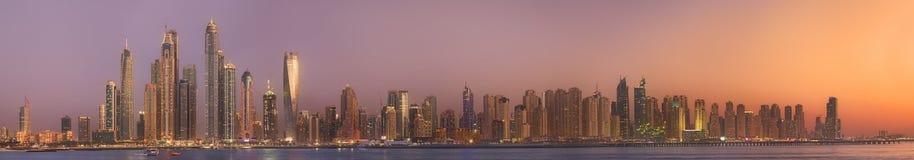 The beauty panorama of Dubai marina. UAE. The beauty panorama of skyscrapers in Dubai Marina. UAE Royalty Free Stock Photo
